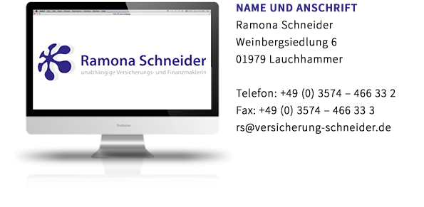 Ramona Schneider Erstinformation